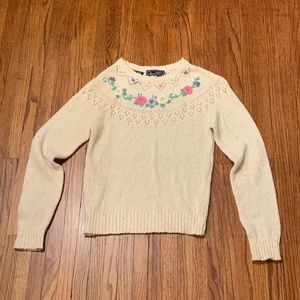 Vintage 1980s Sweater 20 ANS by Mariea Kim